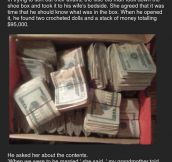 Husband Finds Wife's Secret Money