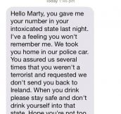 Text From A Nice Police Man