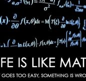 Life Is Like Math In A Way