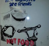 Friends Are Not Food
