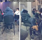 A Clever Way To Sleep In Class