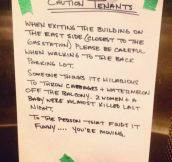 Caution Tenants