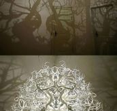 CHANDELIER THAT TURNS YOUR ROOM INTO A FOREST.
