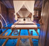 Lake Glass Bottom Bedroom