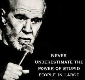 Wise words from George Carlin…