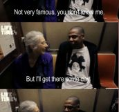 Jay Z's Conversation With An Old Lady On The Subway