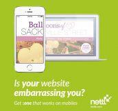 Mobile Website Ad Fail