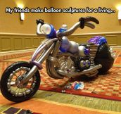 Motorcycle Balloon Sculpture