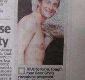 Bear Grylls Is A Romantic
