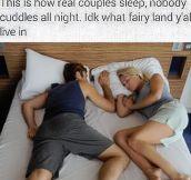 How Real Couples Sleep