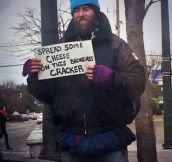 Clever Homeless Man
