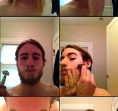 This Is What Happens When A Guy With Long Hair Shaves