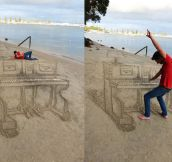 Perspective Game At The Beach