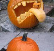 Advanced pumpkin carving…