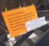 Student Responds To Notes Placed Around Campus