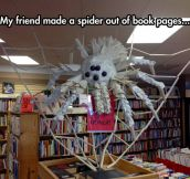 Halloween Decoration Using Book Pages