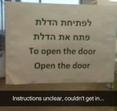 Just Follow The Instructions