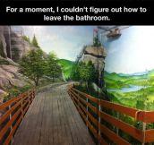 Bathroom illusion…