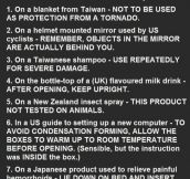 25 Actual Label Instructions Found On Products. Is #11 Serious?