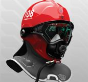 Prototype firefighter helmet