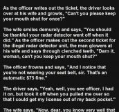 He Kept Telling His Wife To Shut Up. Her Response Is Priceless.