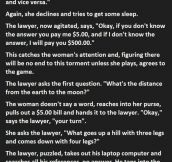 How To Deal With A Lawyer. This Is Perfect.