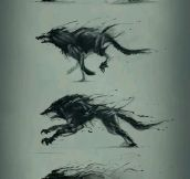 A Wolf Becoming More Sinister