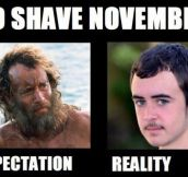 No Shave November Expectations