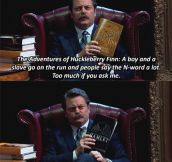 Ron Swanson Spoiling Old Classics