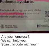 Argentine Government Helping Those In Need