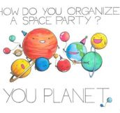 Space Party Pun