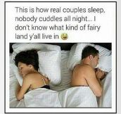 Real Couples Don't Cuddle