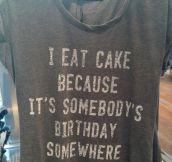 Why I Eat Cake?