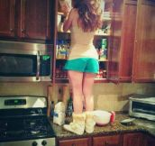 She Should Buy A Kitchen Ladder