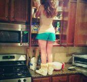 She Should Buy A Kitchen Ladder