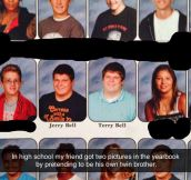 The Twin Brother In The Yearbook's Prank