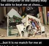 Had to be like a ninja so the librarian didn't shush me.