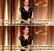And That's One Of The Reasons She's My Favorite Actress