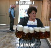 A Typical Grandma In Germany