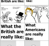 English Vs American People