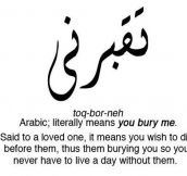 In Arabic 'I Love You' Means Something Else
