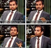 Aziz Ansari Ain't Afraid Of No Ghost