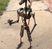 Clever Star Wars Drone Sculpture