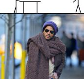 How I Imagine Lenny Kravitz Going Carpet Shopping