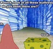 SpongeBob's Sharp Sense Of Humor