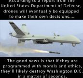If Drones Make Their Own Decisions