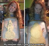She Wanted A Snowman But Got Jabba The Hutt