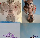 Artist Transforms Kids Drawings Into Plush Toys