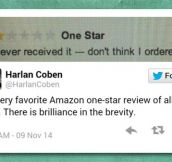 Favorite One-Star Review