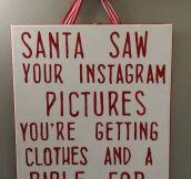 Santa Follows You On Instagram